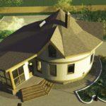 Casa rotunda cu conservator