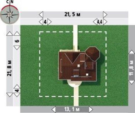 Dimensiuni teren casa cu 2 dormitoare