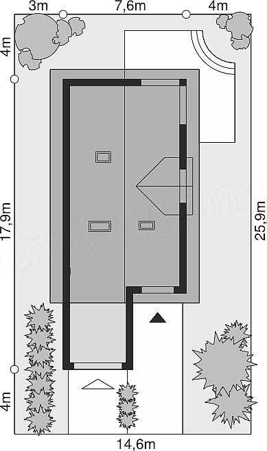 Dimensiuni teren casa cu 3 dormitoare la mansarda