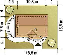 Dimensiuni teren casa fara garaj