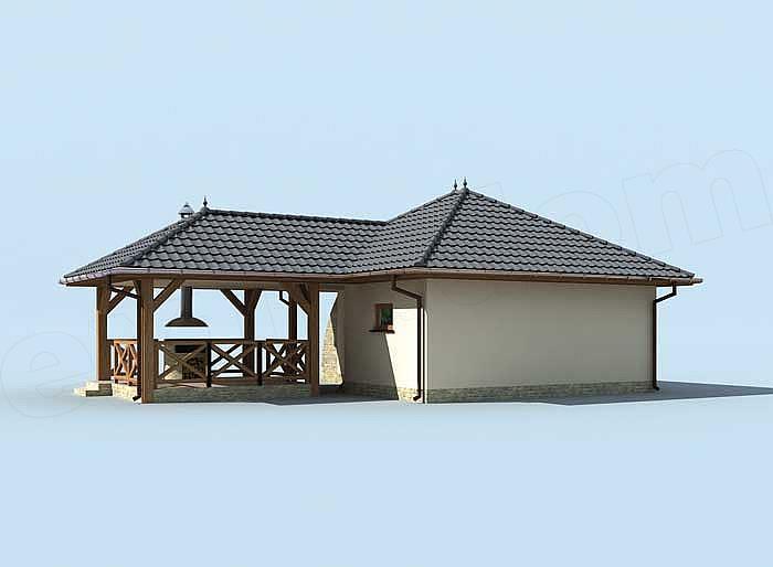 Garaj cu terasa acoperita