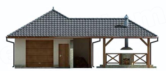 Garaj cu terasa vedere fata