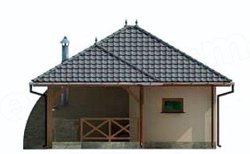 Garaj cu terasa vedere laterala