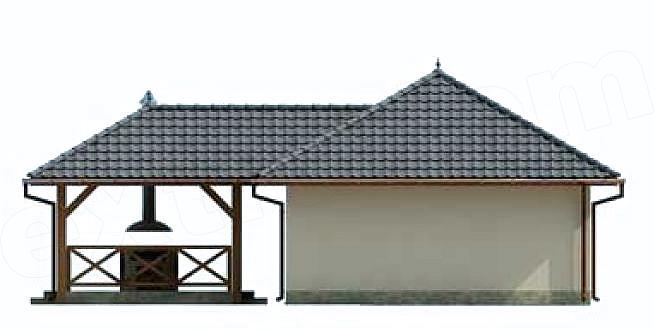 Garaj cu terasa vedere spate