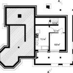 Plan demisol casa cu 2 dormitoare