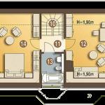 Plan mansarda casa mica