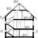 Plan vertical casa cu 3 niveluri