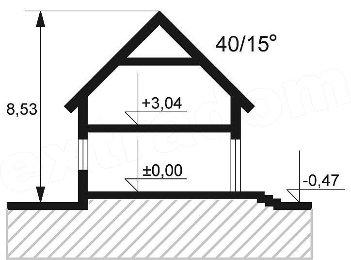 Plan vertical casa cu 4 dormitoare