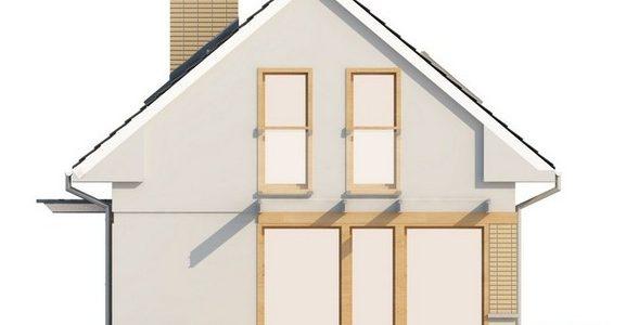 Vedere laterala casa mica cu mansarda