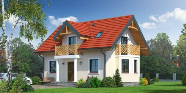 Casa cu 2 balcoane la mansarda