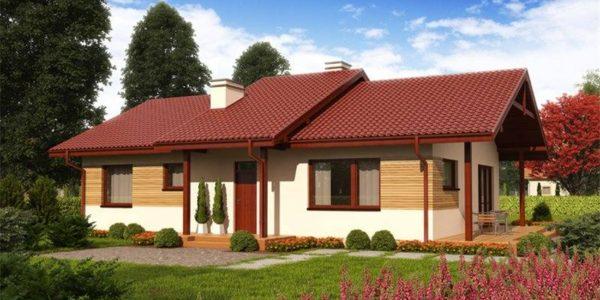Casa cu 4 camere si acoperis jos
