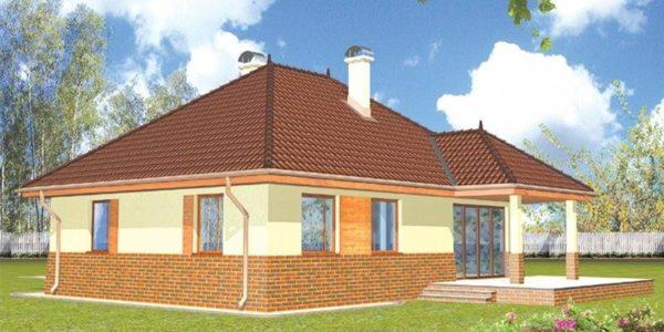 Casa cu 4 camere si arhitectura clasica