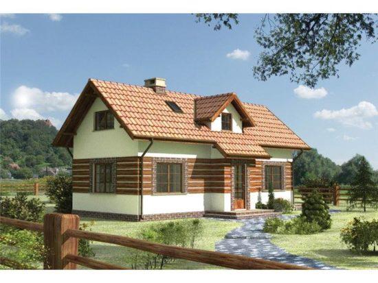 Casa cu mansarda si 3 camere