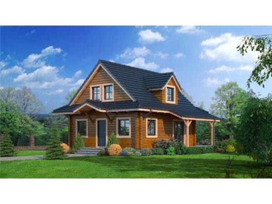 Casa din lemn cu 3 dormitoare