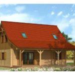 Casa din lemn cu 4 dormitoare