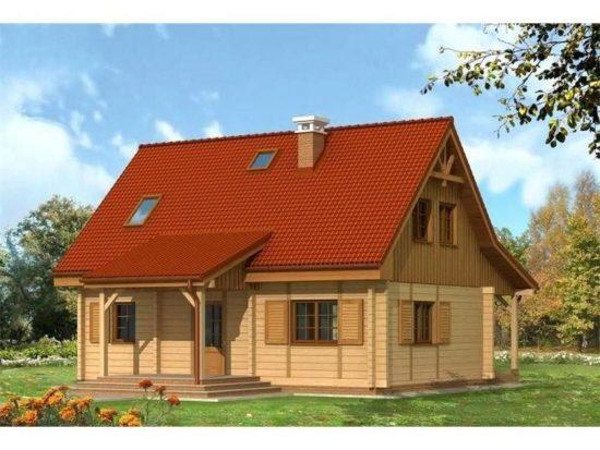 Casa din lemn cu 5 camere