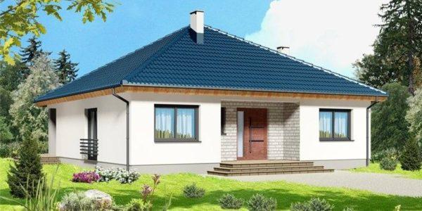 Casa eleganta cu acoperis in 4 ape