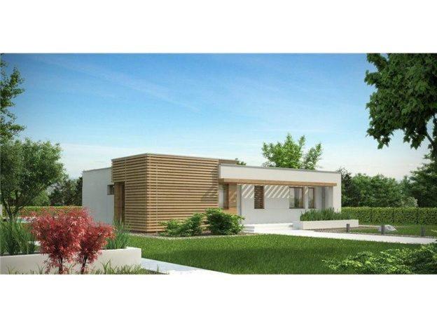 Casa eleganta cu acoperis plat