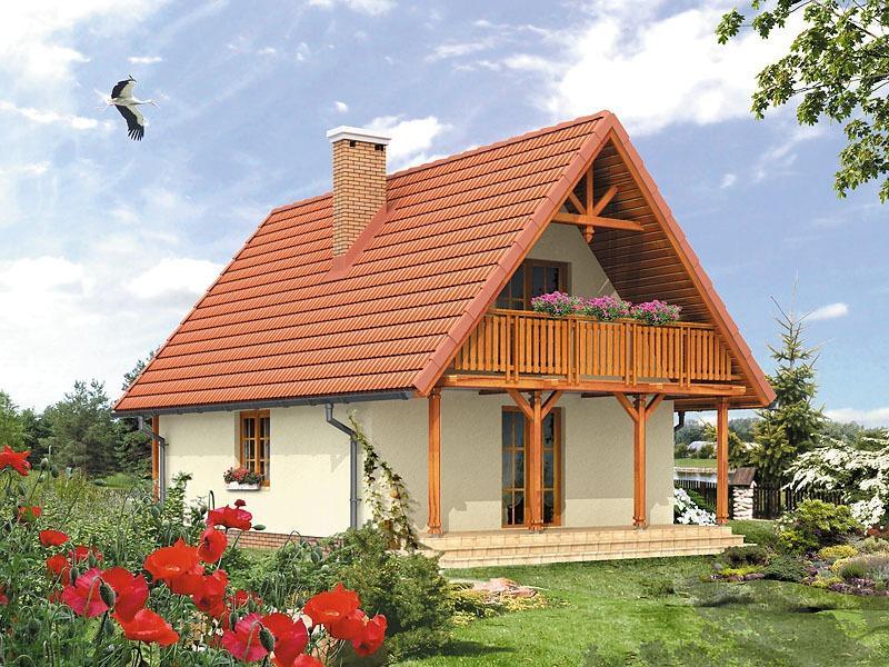 Casa frumoasa cu doua balcoane