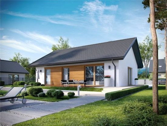 Casa mica cu acoperis in doua ape