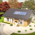 Casa mica cu terasa circulara