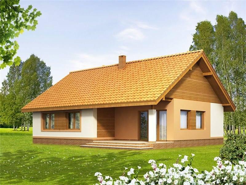 Casa mica cu terasa in spate