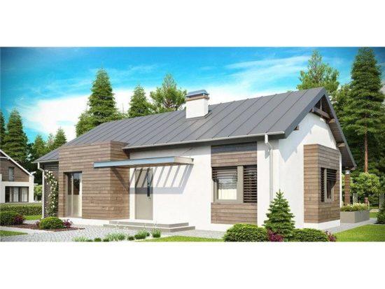 Casa moderna cu acoperis in 2 ape