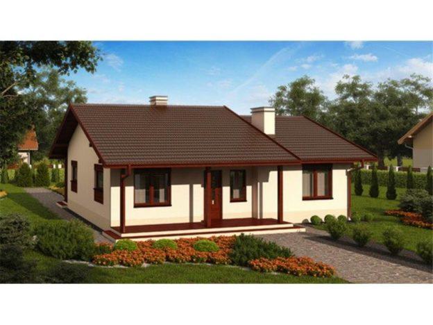 Casa parter cu arhitectura simpla