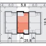 Dimensiuni casa complex cu mansarda