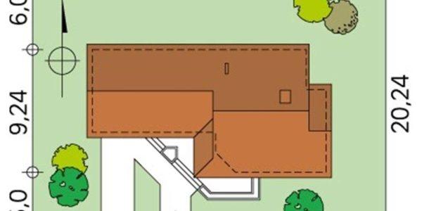 Dimensiuni casa cu 4 camere si garaj