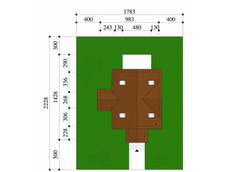 Dimensiuni teren casa P+M cu terasa acoperita