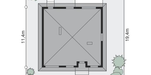 Dimensiuni teren casa cu 3 camere si garaj