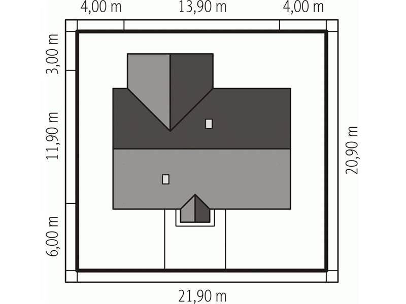 Dimensiuni teren casa cu 3 dormitoare si 2 bai