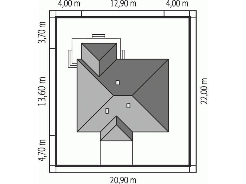 Dimensiuni teren casa cu 4 camere doar cu parter