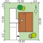Dimensiuni teren casa cu 4 camere si garaj