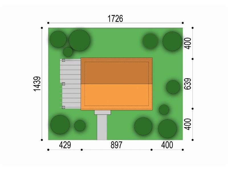 Dimensiuni teren casa cu acoperis inalt