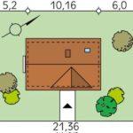 Dimensiuni teren casa din lemn cu mansarda