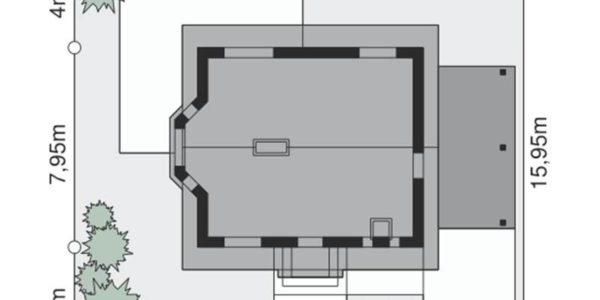 Dimensiuni teren casa eleganta cu 3 dormitoare