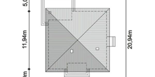 Dimensiuni teren casa eleganta cu 4 camere