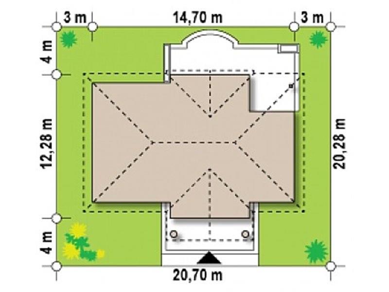 Dimensiuni teren casa eleganta doar cu parter