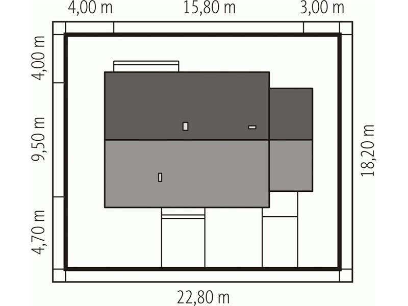 Dimensiuni teren casa mica cu 4 camere si garaj