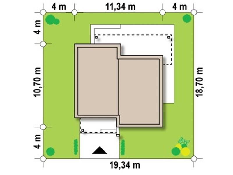 Dimensiuni teren casa moderna cu 3 camere