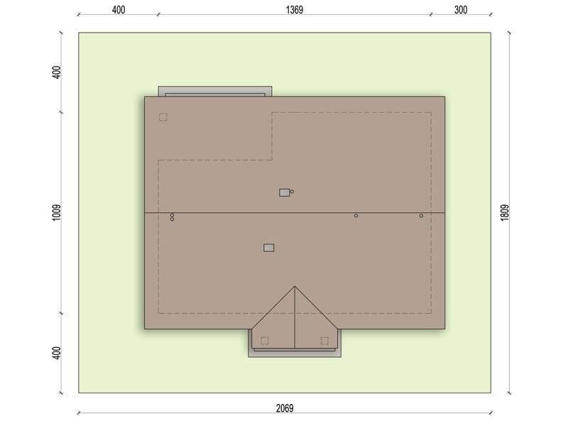 Dimensiuni teren si casa cu 4 camere