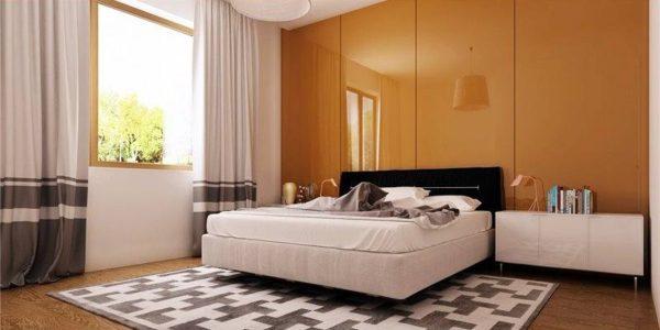 Dormitor mare cu decor modern