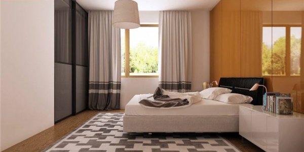 Dormitor matrimonial cu amenajare moderna