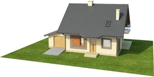Imagine 3D casa cu 3 dormitoare si 3 bai