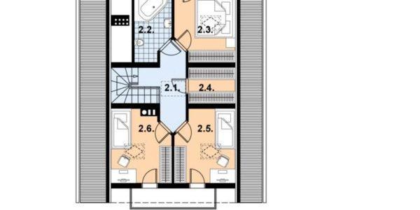 Plan etaj mansarda casa de vacanta