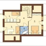 Plan mansarda casa cu 4 camere