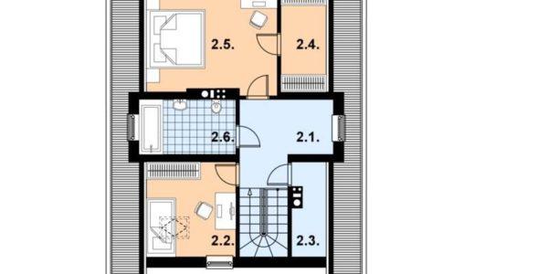 Plan mansarda casa de vacanta din lemn