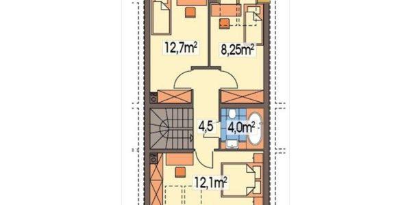 Plan mansarda casa din complex